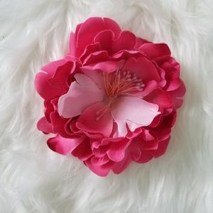 Accessories - NWOT Pink Flower Clip and Pin